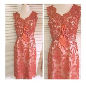 Vintage 1950's Lace Cocktail Dress, Perfect! FIRM!